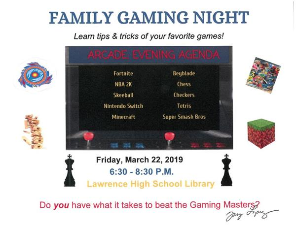 Family Gaming Night Flyer