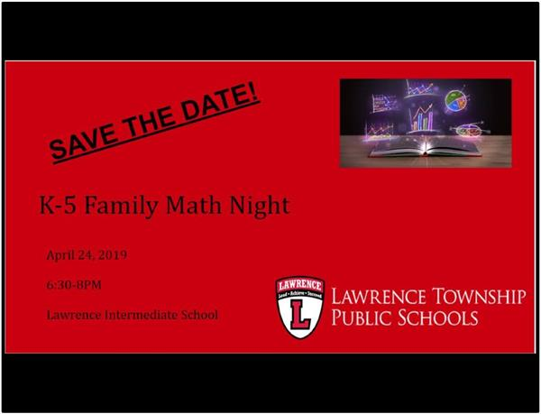 Flyer Family Math Night
