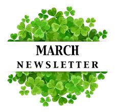 March Newsletter with clover above and below