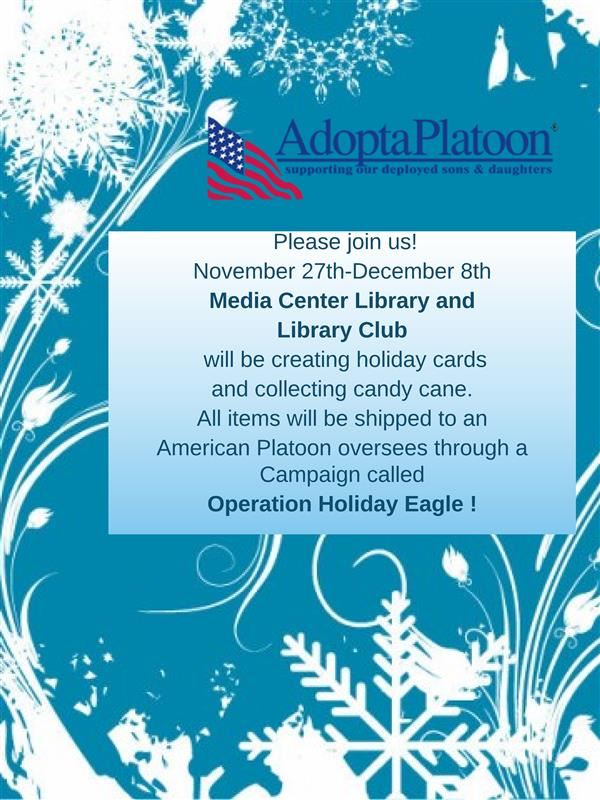 Adopt a Platoon operation Holiday Eagle