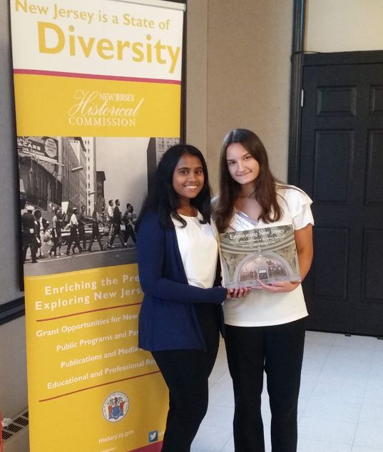Amritha Sypereddi and Dessy Dusichka at NJ History Conference