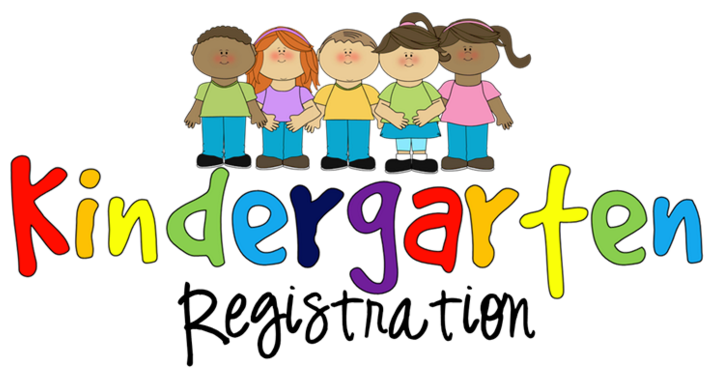 multi-color graphic, young kids, various diversities holding hands.Text: Kindergarten Registration
