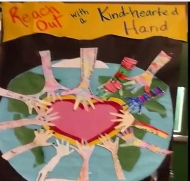 Hands reaching toward heart & Reach Out with Kind-hearted Hand