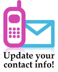 Parents/Guardians:  Do we have your up-to-date contact information?