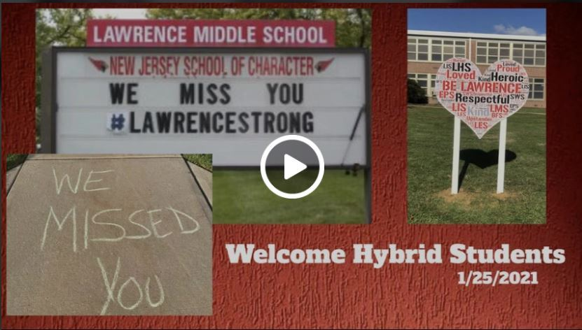 Welcome Back Hybrid Students Video
